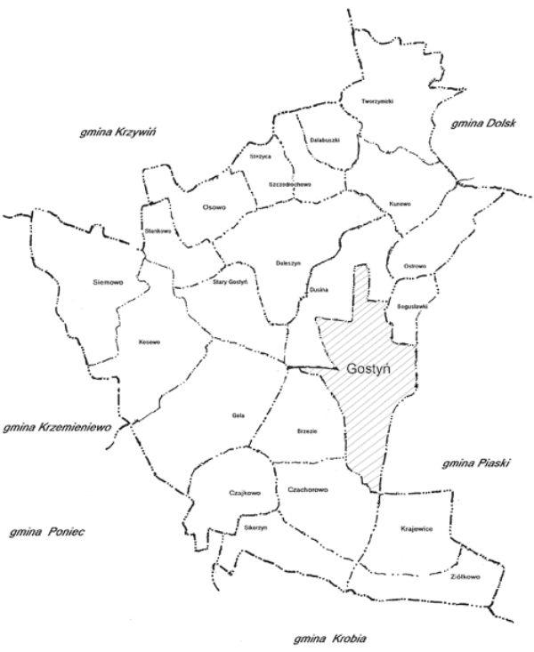Sołectwa Gminy Gostyń